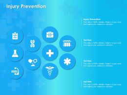 Injury Prevention Ppt Powerpoint Presentation Visual Aids Deck
