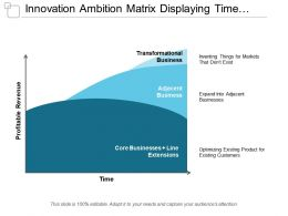Innovation Ambition Matrix Displaying Time And Profitability Revenue