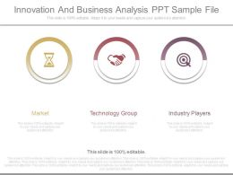 Innovation And Business Analysis Ppt Sample File