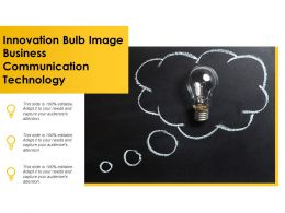 Innovation Bulb Image Business Communication Technology