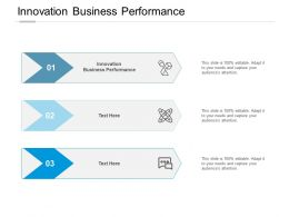 Innovation Business Performance Ppt Powerpoint Presentation Model Slide Download Cpb