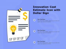 Innovation Cost Estimate Icon With Dollar Sign