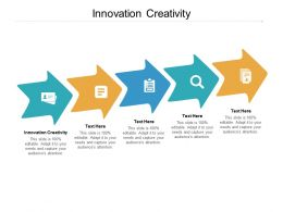 Innovation Creativity Ppt Powerpoint Presentation Outline Maker Cpb