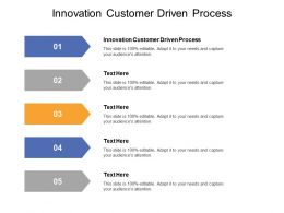 Innovation Customer Driven Process Ppt Powerpoint Presentation Pictures Sample Cpb