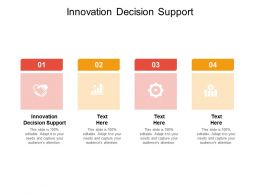 Innovation Decision Support Ppt Powerpoint Presentation Model Graphics Design Cpb