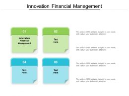Innovation Financial Management Ppt Powerpoint Presentation Infographic Template Design Ideas Cpb