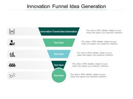 Innovation Funnel Idea Generation Ppt Powerpoint Presentation File Introduction Cpb