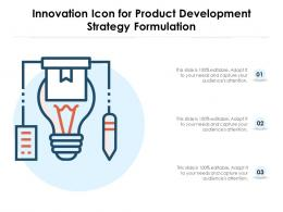 Innovation Icon For Product Development Strategy Formulation