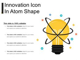 Innovation Icon In Atom Shape