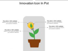 Innovation Icon In Pot