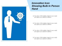 Innovation Icon Showing Bulb In Person Hand