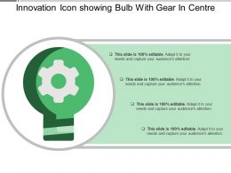 Innovation Icon Showing Bulb With Gear In Centre