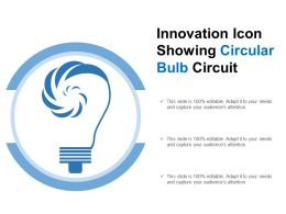 Innovation Icon Showing Circular Bulb Circuit