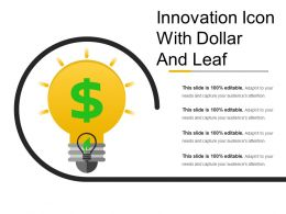 Innovation Icon With Dollar And Leaf