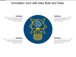 Innovation Icon With Idea Bulb And Gear
