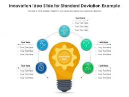 Innovation Idea Slide For Standard Deviation Examples Infographic Template