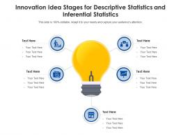 Innovation Idea Stages For Descriptive Statistics And Inferential Statistics Infographic Template