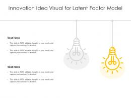 Innovation Idea Visual For Latent Factor Model Infographic Template