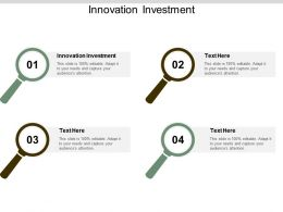 Innovation Investment Ppt Powerpoint Presentation Gallery Show Cpb