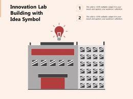 Innovation Lab Building With Idea Symbol