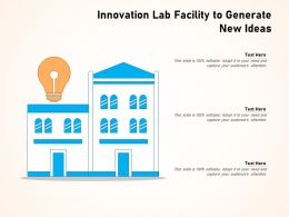 Innovation Lab Facility To Generate New Ideas