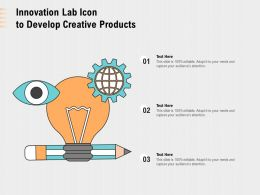 Innovation Lab Icon To Develop Creative Products