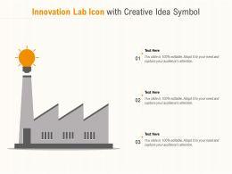 Innovation Lab Icon With Creative Idea Symbol