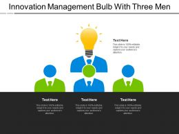 Innovation Management Bulb With Three Men
