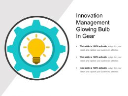 Innovation Management Glowing Bulb In Gear