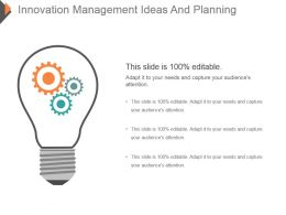 Innovation Management Ideas And Planning Ppt Icon