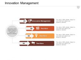 Innovation Management Ppt Powerpoint Presentation Infographic Template Design Templates Cpb