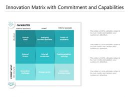 Innovation Matrix With Commitment And Capabilities