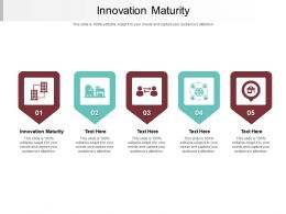 Innovation Maturity Ppt Powerpoint Presentation Pictures Cpb