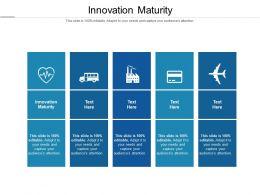 Innovation Maturity Ppt Powerpoint Presentation Summary Icon Cpb