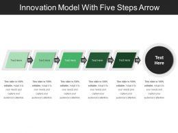 Innovation Model With Five Steps Arrow