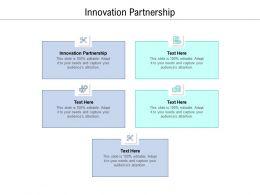 Innovation Partnership Ppt Powerpoint Presentation Summary Slide Portrait Cpb