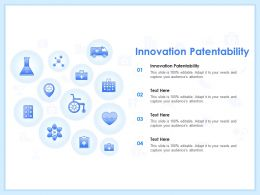 Innovation Patentability Ppt Powerpoint Presentation Model Inspiration