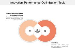 Innovation Performance Optimization Tools Ppt Powerpoint Presentation Gallery Information Cpb