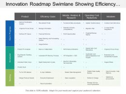 Innovation Roadmap Swimlane Showing Efficiency Gains Operating Cost Reductions