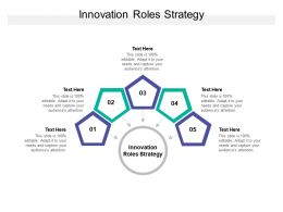 Innovation Roles Strategy Ppt Powerpoint Presentation Portfolio Guidelines Cpb