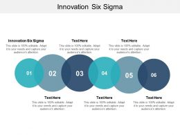 Innovation Six Sigma Ppt Powerpoint Presentation Icon File Formats Cpb