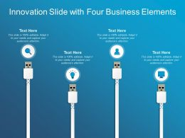 Innovation Slide With Four Business Elements