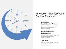 Innovation Sophistication Factors Financial Markets Development Technological Readiness