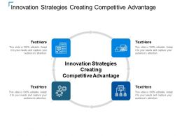 Innovation Strategies Creating Competitive Advantage Ppt Powerpoint Presentation Outline Cpb