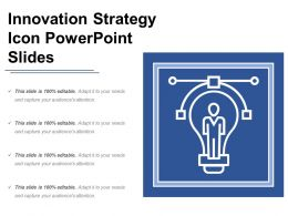 Innovation Strategy Icon Powerpoint Slides