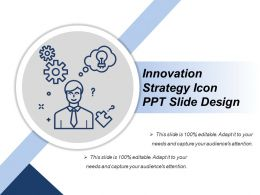 Innovation Strategy Icon Ppt Slide Design