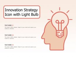 Innovation Strategy Icon With Light Bulb