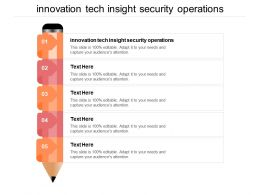 Innovation Tech Insight Security Operations Ppt Powerpoint Presentation Infographic Template Show Cpb