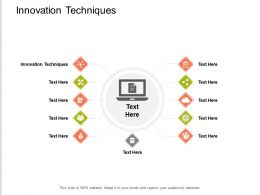 Innovation Techniques Ppt Powerpoint Presentation Professional Background Image Cpb
