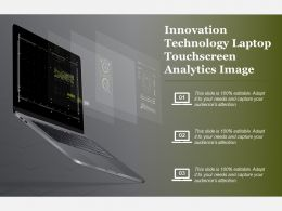 Innovation Technology Laptop Touchscreen Analytics Image